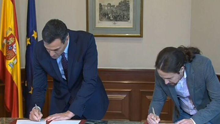 Así es el pacto de coalición PSOE - Unidas Podemos