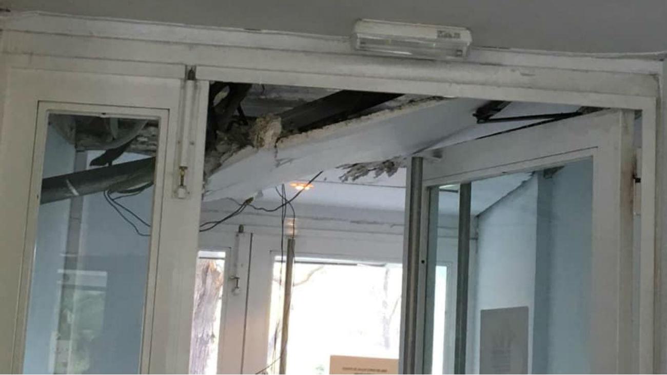 Derrrumbe de parte del techo
