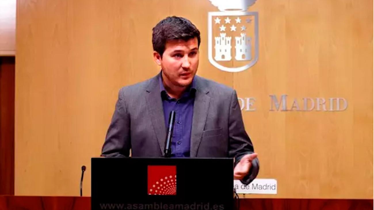Pablo Gómez  Perpinyà,  portavoz de Más Madrid en la Asamblea de Madrid