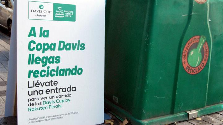 Los vecinos de Parla irán gratis a la Copa Davis como premio por reciclar