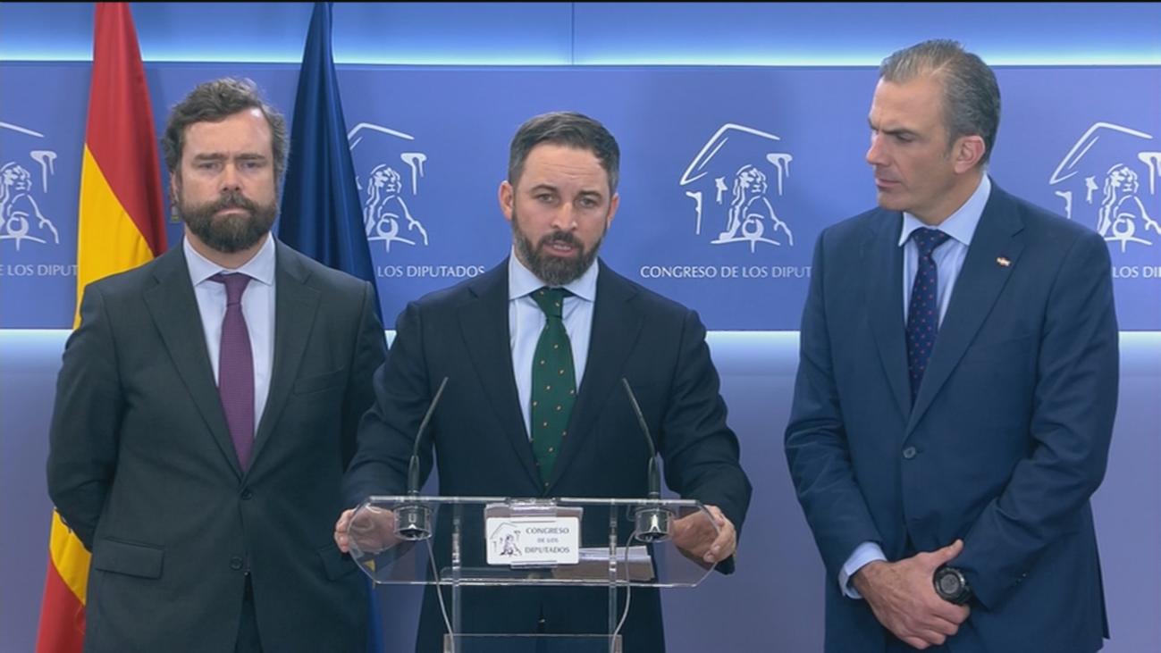 """Santiago Abascal: """"Hemos asistido a la mayor y más burda estafa electoral de nuestra democracia"""""""