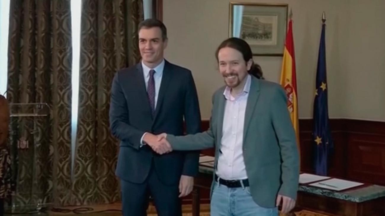 El gobierno de coalición entre PSOE y Unidas Podemos se perfila con tres vicepresidencias