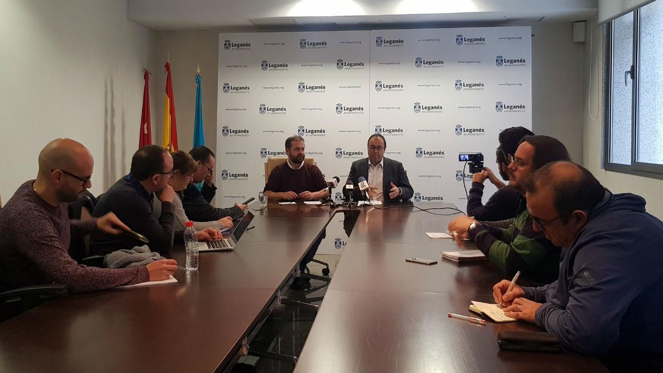 Rueda de prensa del alcalde de Leganés, Santiago Llorente