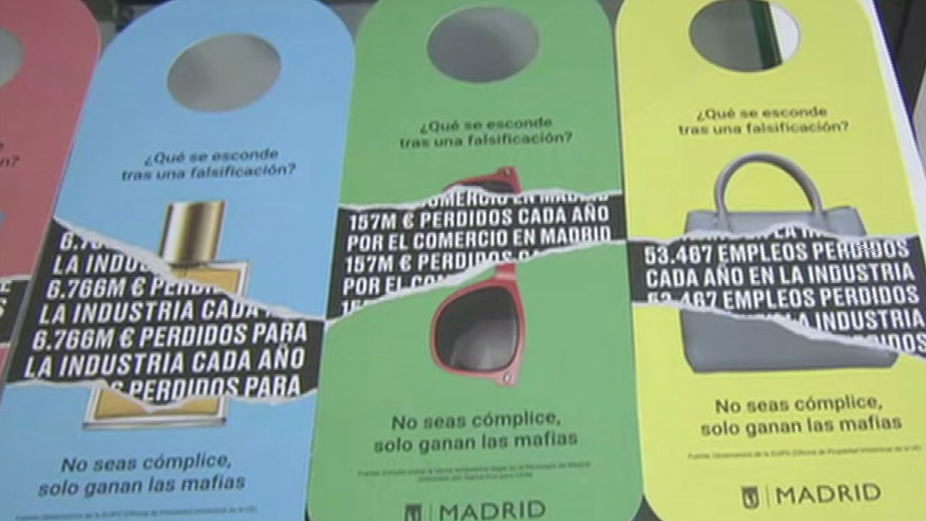 Guerra en Madrid contra los productos falsificados