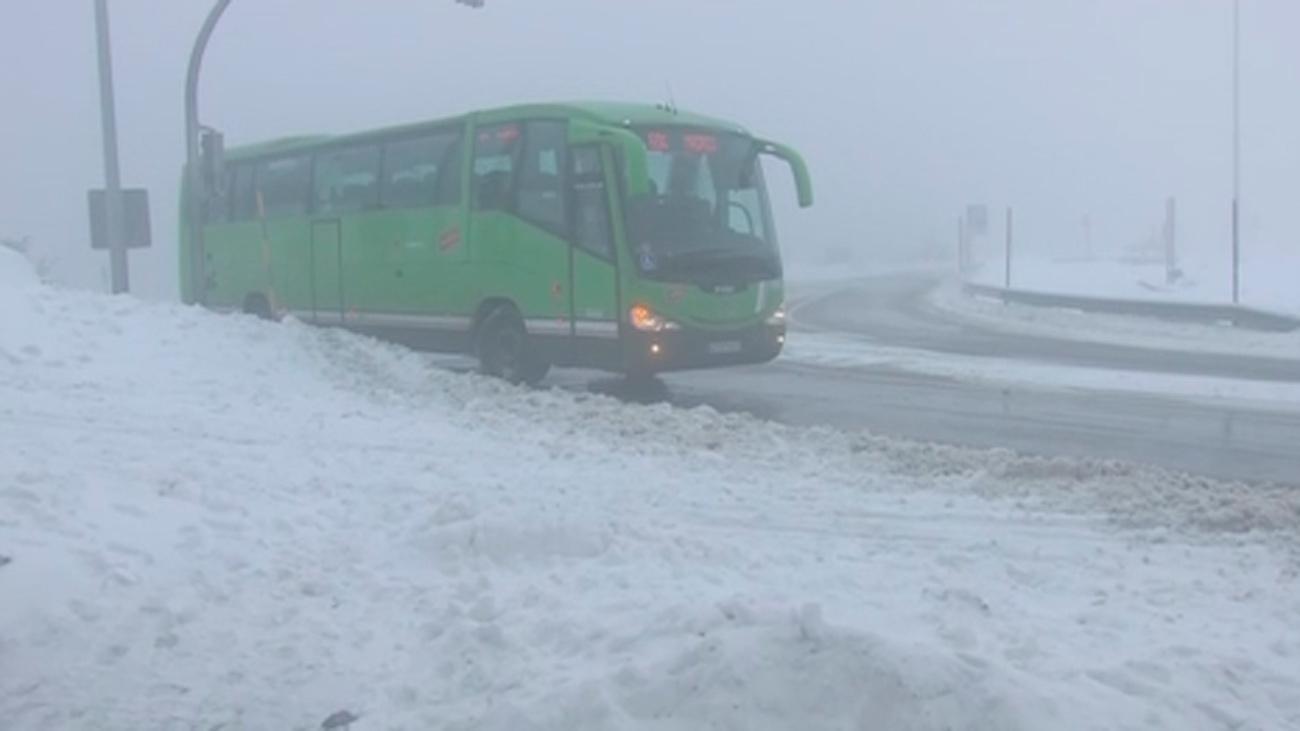 El temporal remite, pero persiste el frío y volverá la nieve a la Sierra de Madrid