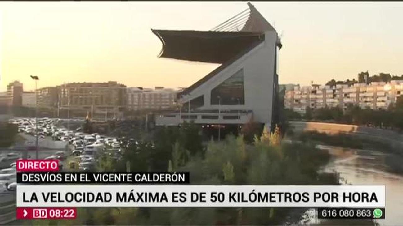 Los cinco carriles de la M-30 cruzan ya por el Calderón