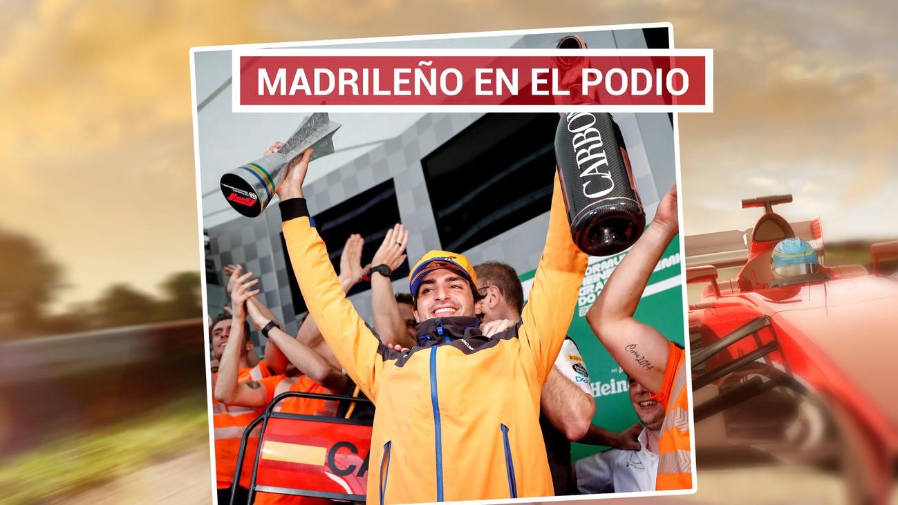 Carlos Sainz logra su primer podio en la Fórmula 1