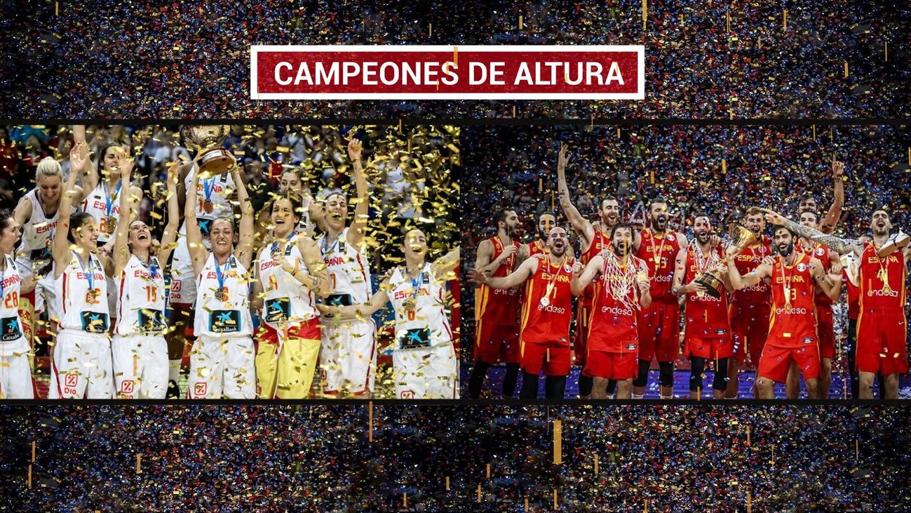 Homenaje a los campeones del mundo y a las campeonas de Europa