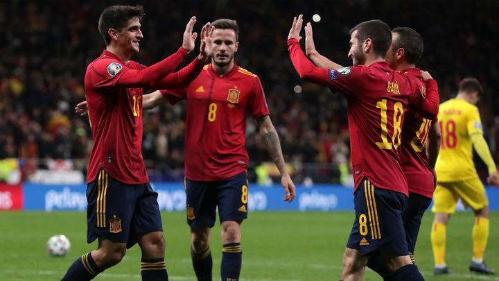 5-0. España golea a Rumanía  y será cabeza de serie en el sorteo de la Eurocopa