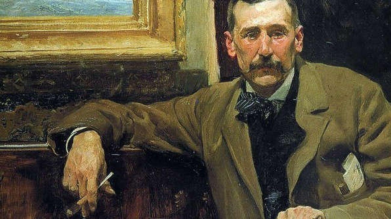 Benito Pérez Galdós, en un cuadro pintado por Sorolla