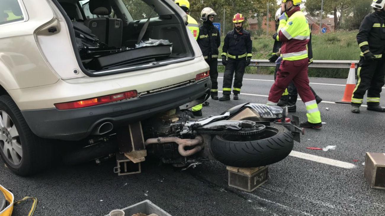 Accidente de un motorista