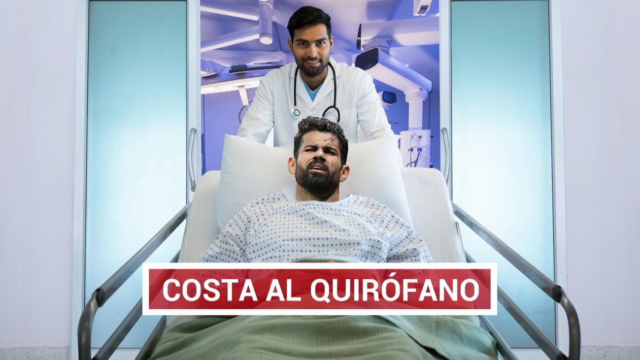 Diego Costa será operado de una hernia cervical y estará tres meses K.O.
