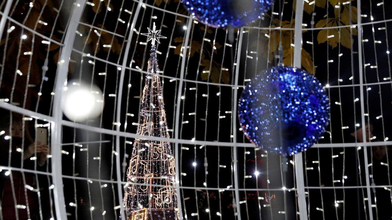 Luces de Navidad en el Real Jardín Botánico de Madrid