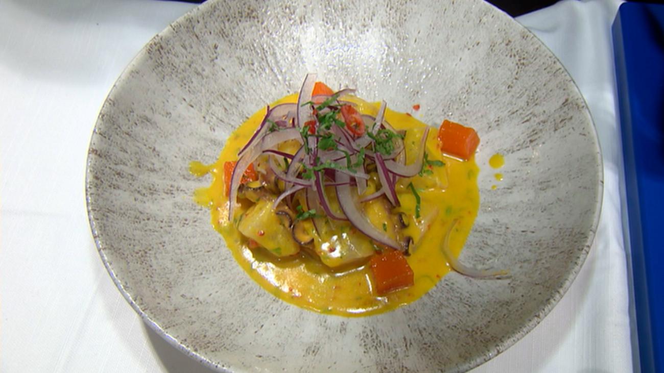 Así preparan el ceviche de corvina del restaurante peruano Mikuna