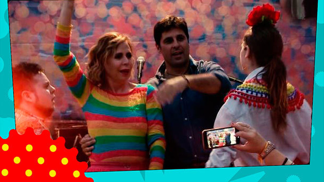 Ágatha Ruiz intenta bailar unas sevillanas junto a Fran Rivera