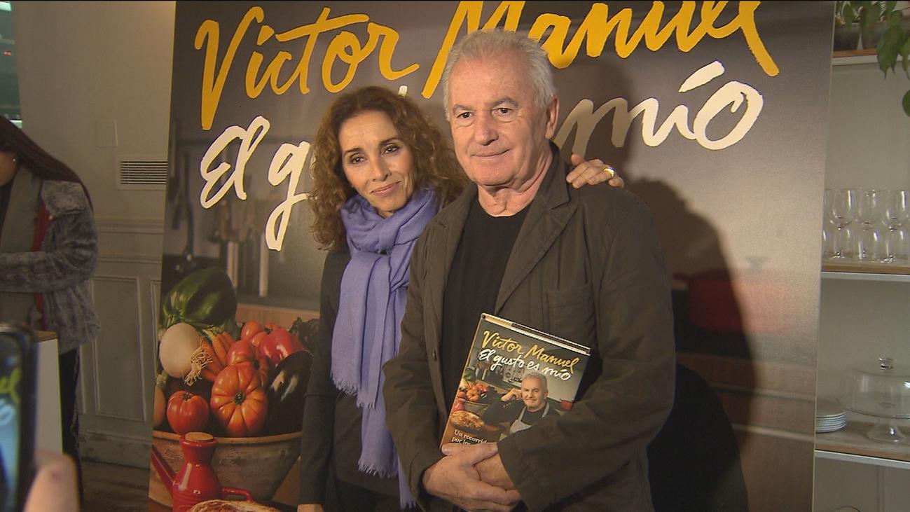 Víctor Manuel presenta 'El gusto es mío', un libro de recetas