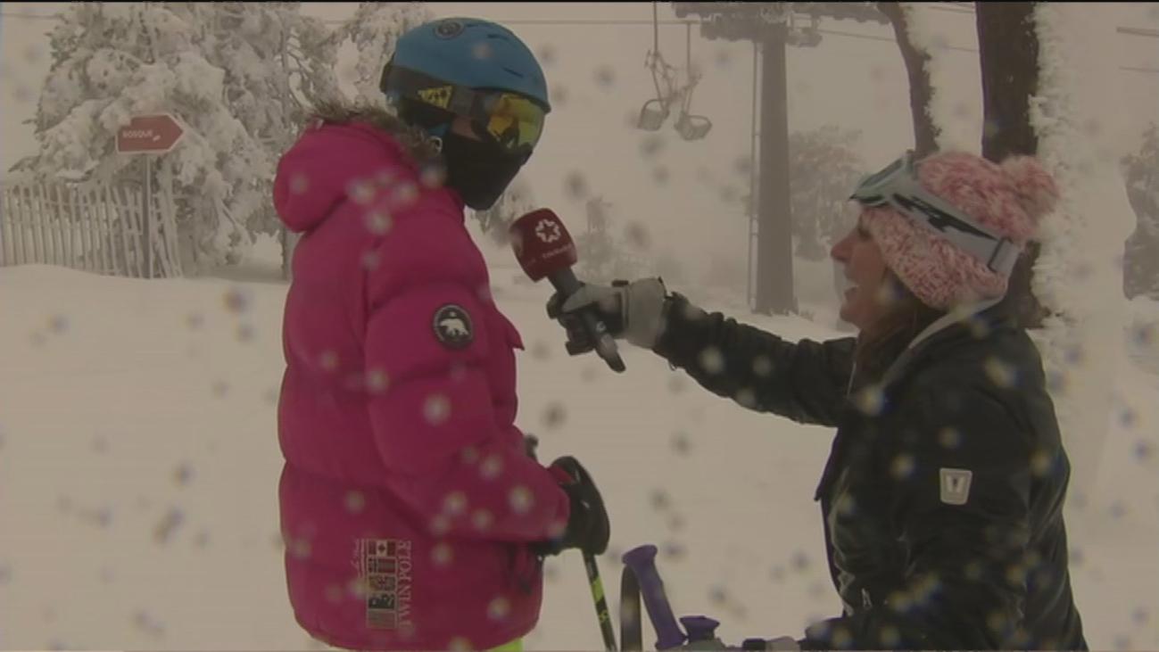 Histórica apertura de las pistas de Navacerrada con nieve polvo, la mejor para esquiar
