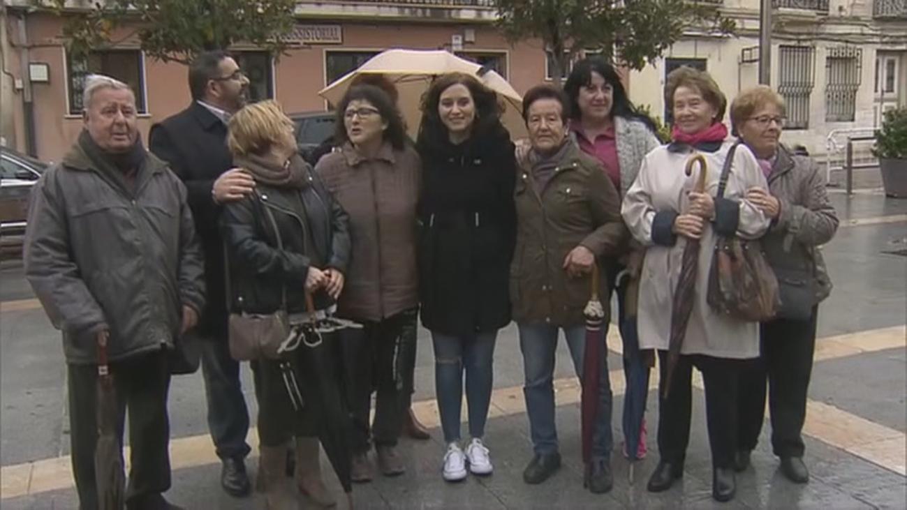 Isabel Díaz Ayuso es la primera presidenta de la Comunidad de Madrid que visita Villaconejos