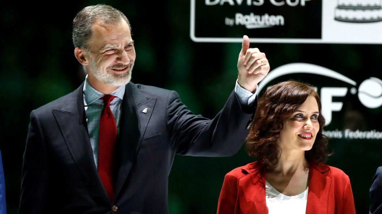 Díaz Ayuso asiste a la final de la Copa Davis presidida por el Rey