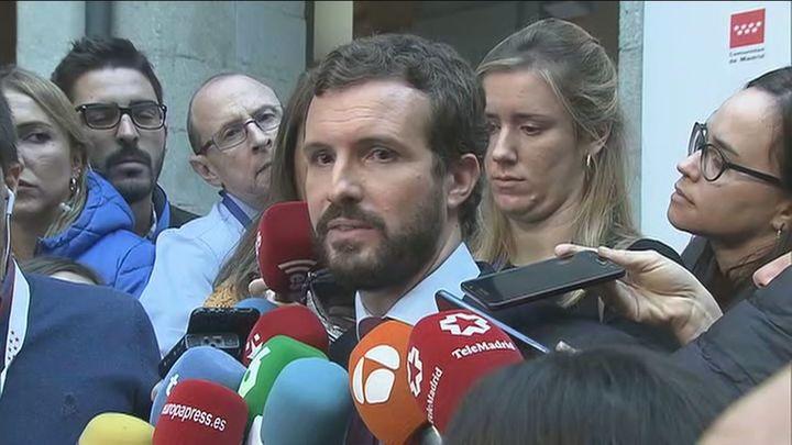 Casado anuncia que el PP recurrirá al Constitucional la congelación de las pensiones
