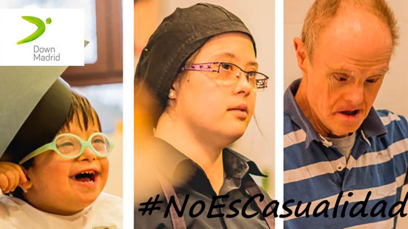#NoEsCasualidad, la campaña de Down Madrid para sensibilizar sobre la inclusión