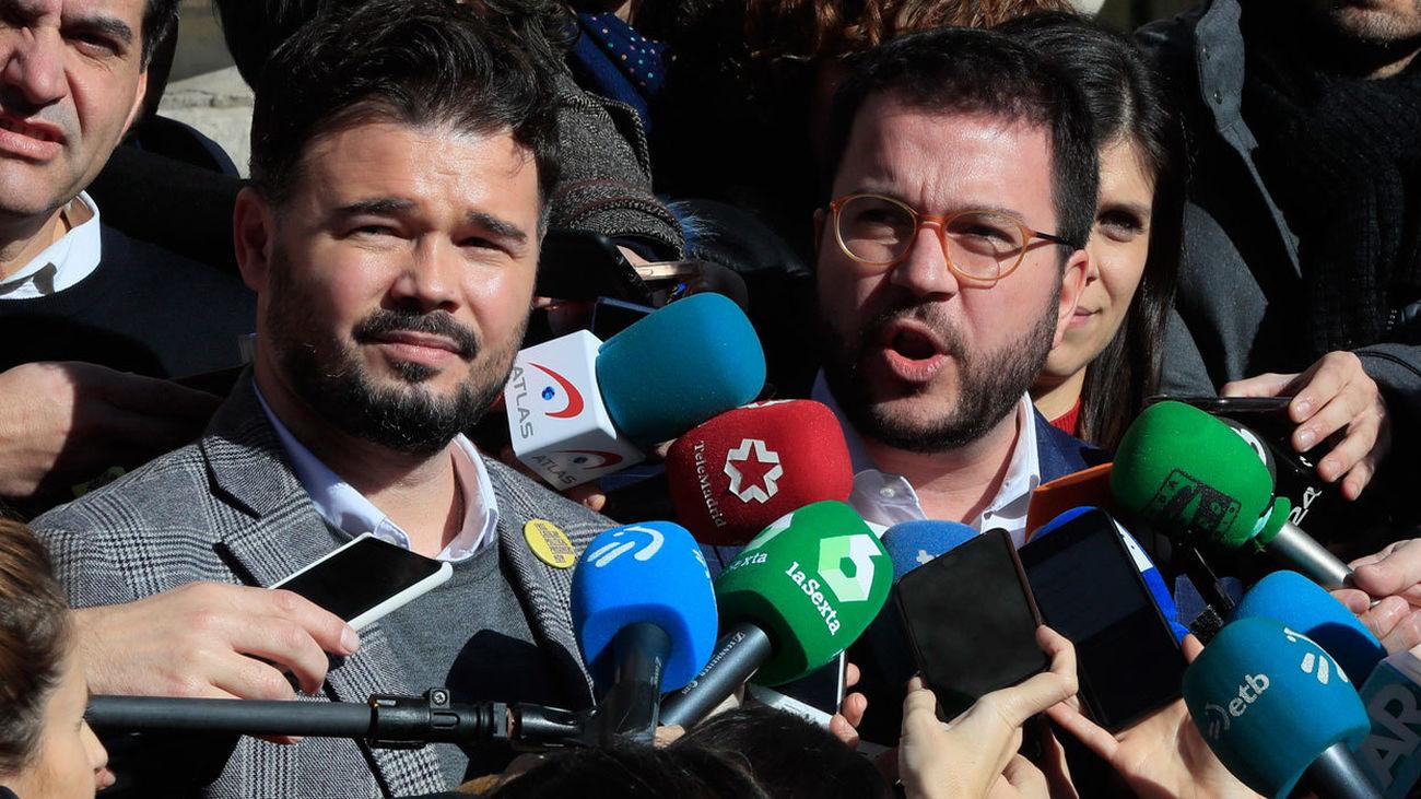 Gabriel Rufián y Pére Aragones