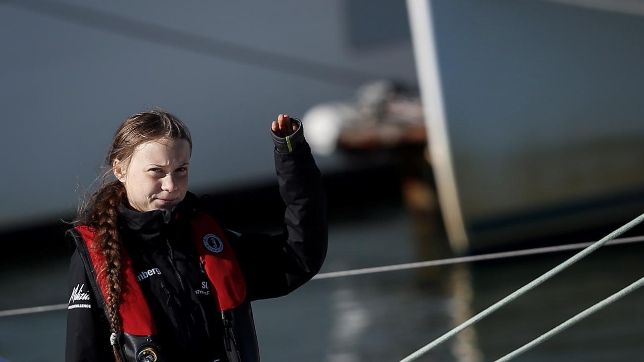 La activista sueca Greta Thunberg llega a Lisboa