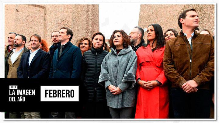 Febrero: Colón une a  PP, Cs y Vox contra Sánchez