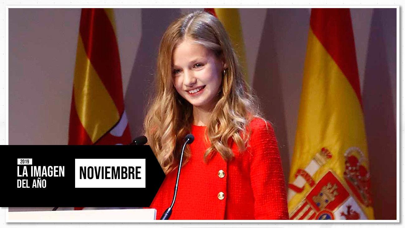 Leonor pronunció su primer discurso en la gala de los premios Princesa de Asturias