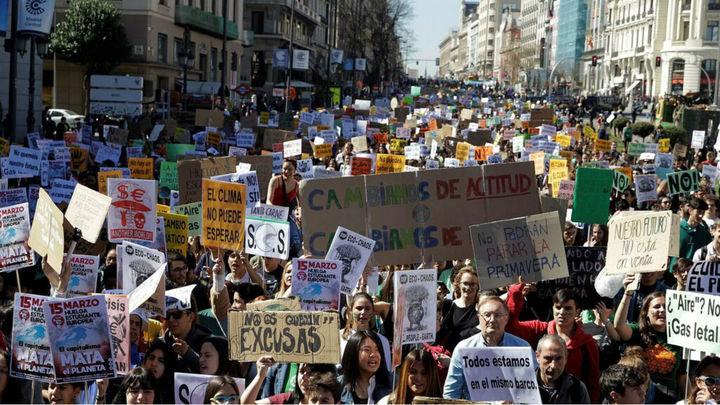 Medio Madrid cortado al tráfico y máxima seguridad por la 'Marcha por el Clima' de este viernes