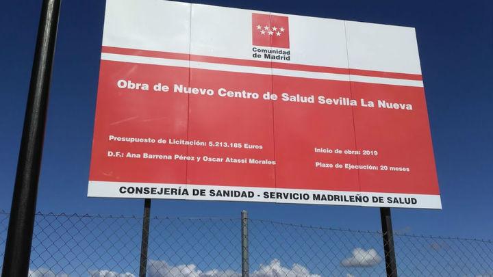 Madrid  inicia la construcción de tres centros de salud en Alcorcón, Navalcarnero y Sevilla la Nueva