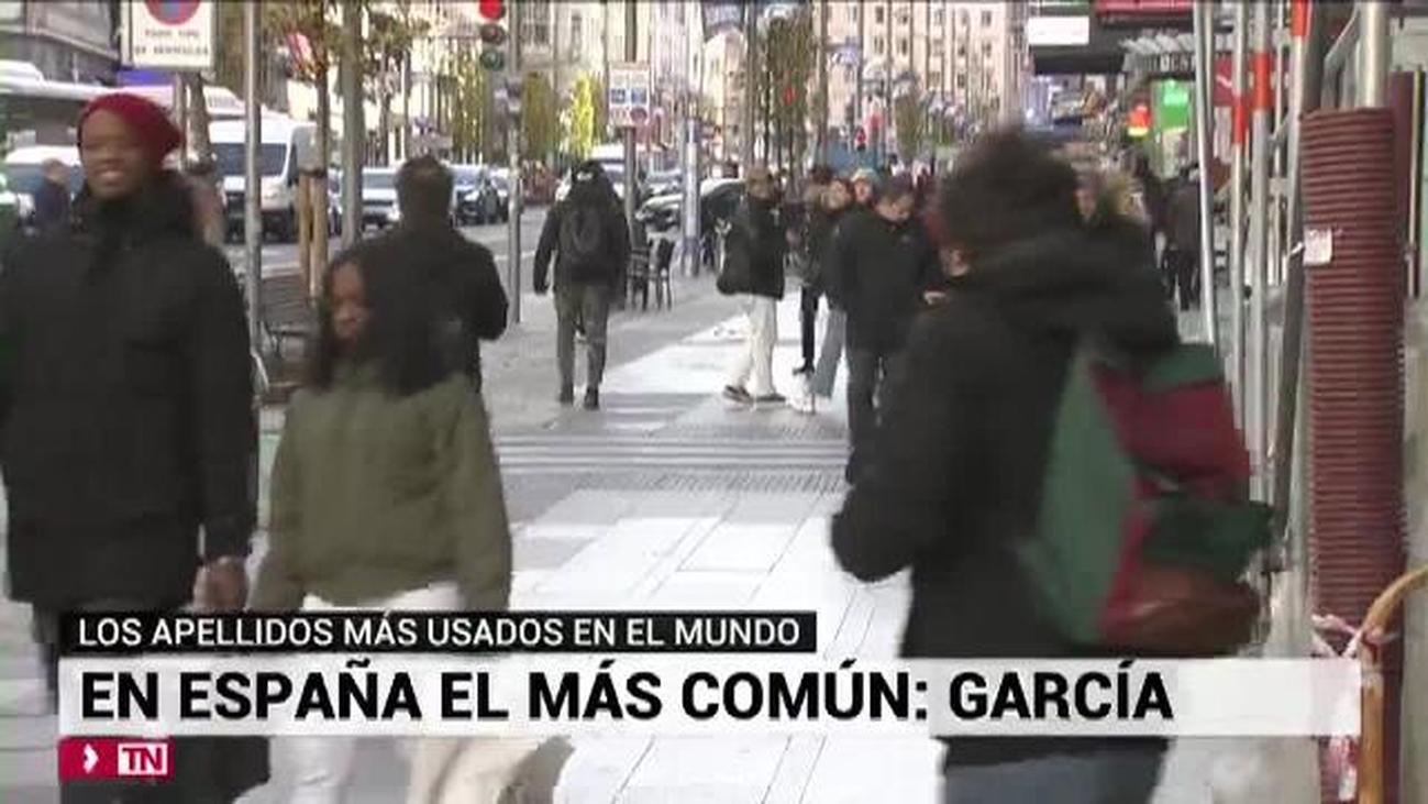 García sigue siendo el apellido más común en España