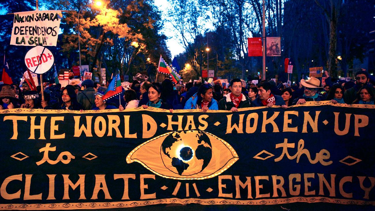 Masiva asistencia en el arranque de la Marcha por el Clima con Greta Thumberg