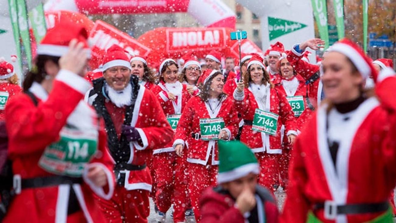 La Carrera de Papa Noel de nuevo en Madrid