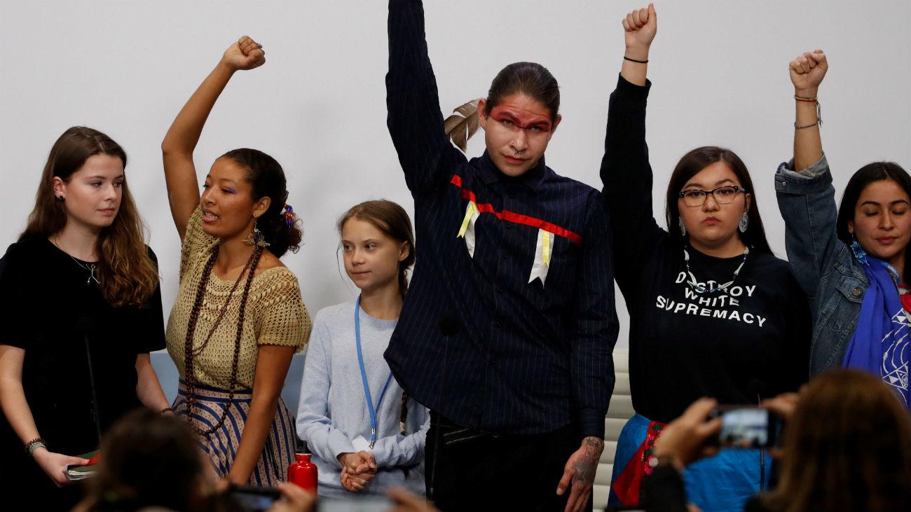 Los jóvenes aprovechan el tirón de Greta para reclamar justicia climática