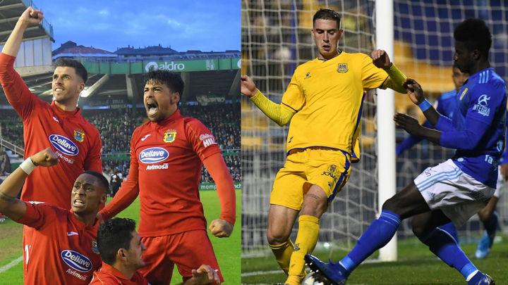 El Fuenlabrada empata con el Racing (2-2) y el Alcorcón cae con el Oviedo (1-3)