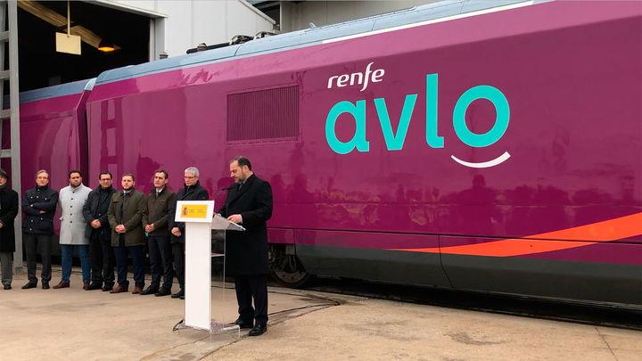El AVE 'low cost' de Renfe se llama AVLO, es morado y se estrenará en abril de 2020