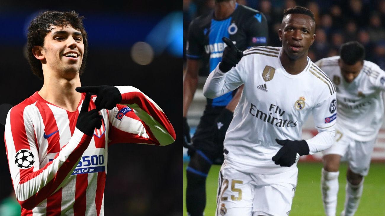 El Atleti cumple ante el Lokomotiv (2-0) y el Real Madrid en Brujas (1-3)