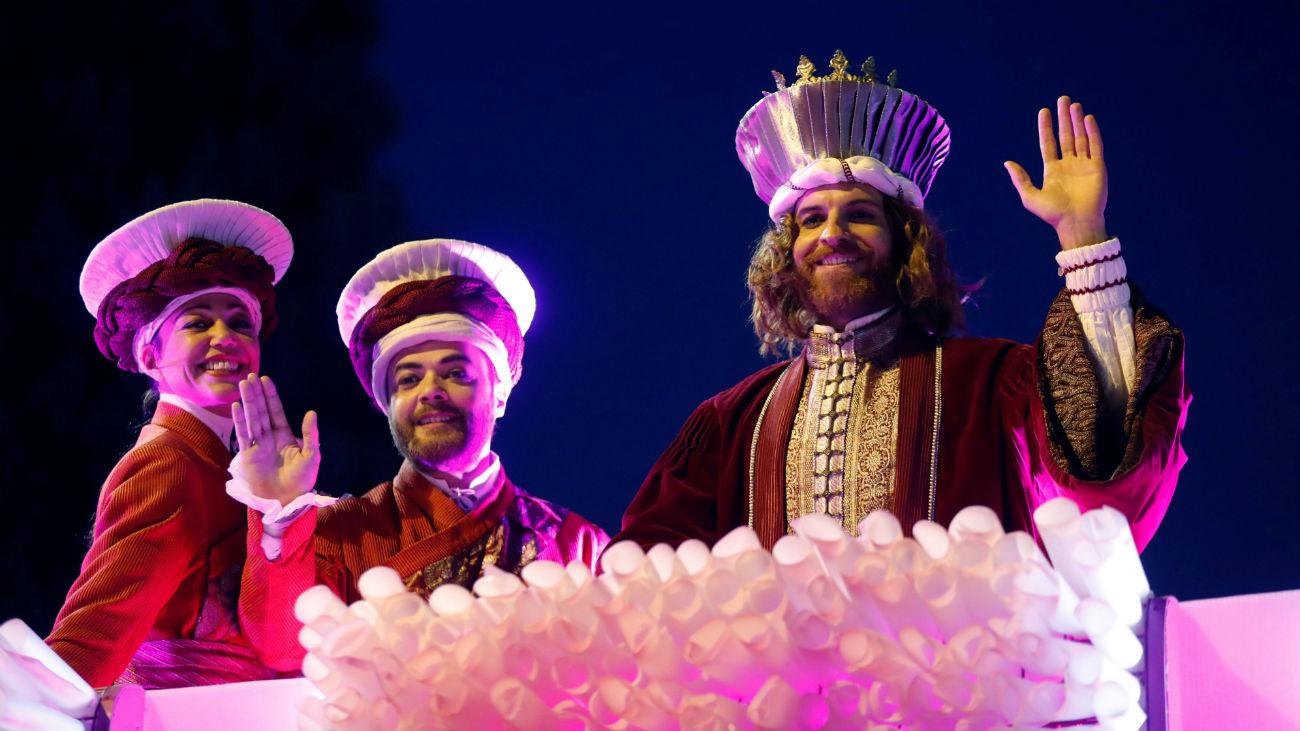Imagen de la Cabalgata de Reyes de Madrid de enero de 2019