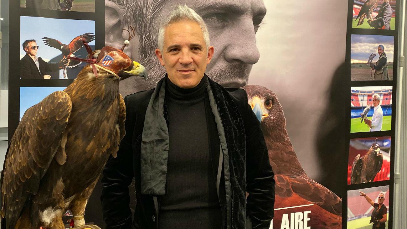 Jorge Castaño, halconero del Atlético de Madrid