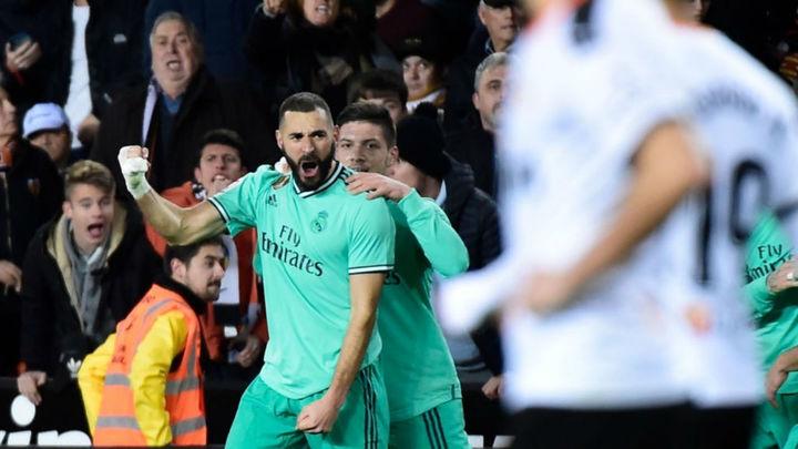 1-1. Benzema rescata al Real Madrid ante el Valencia