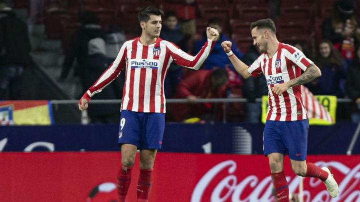 2-0. El Atlético gana al Osasuna y acorta distancias con la cabeza