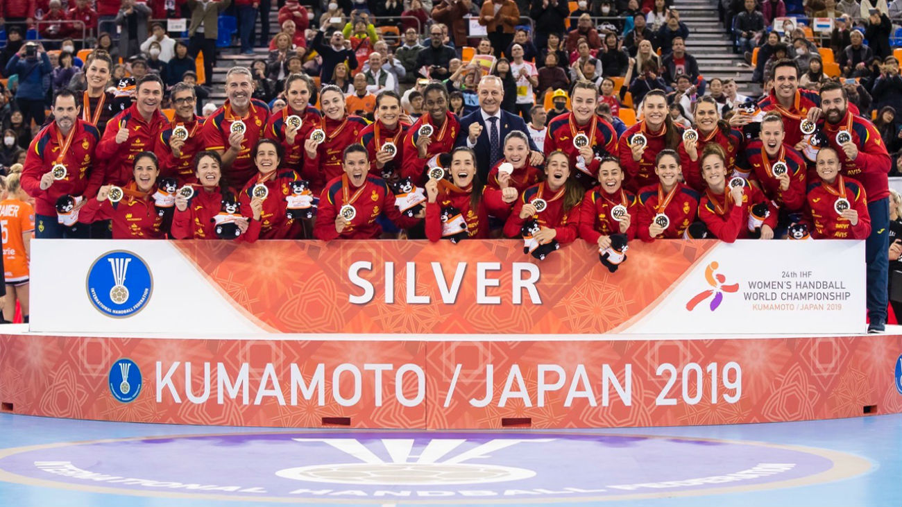 La selección española femenina de balonmano, medalla de plata en el Mundial