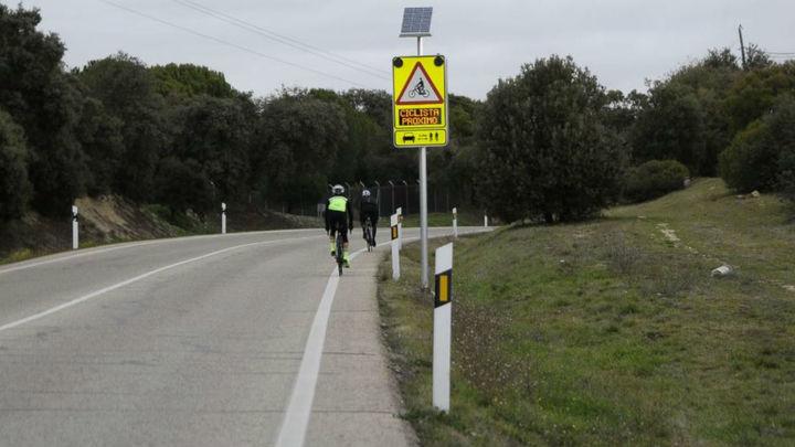 Se disparan un 250 % las multas por poner en peligro a los ciclistas en carretera en Madrid
