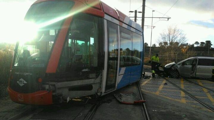 Un herido en un accidente entre el Metro Ligero y un vehículo en Boadilla
