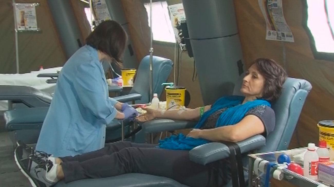 Campaña navideña de donación de sangre en Madrid