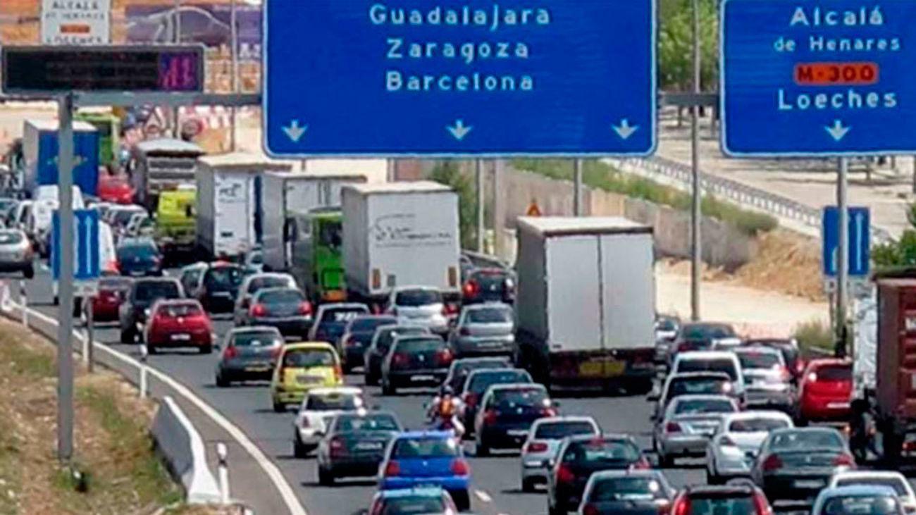 La  A-2 en dirección salida de Madrid
