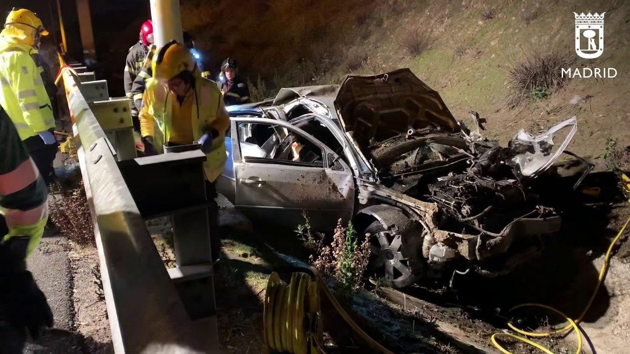 Accidente mortal en la M-50: tres jóvenes fallecidos y uno gravemente herido