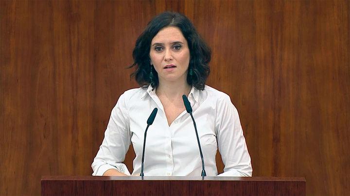 Ayuso comparecerá el 29 de abril en un Pleno telemático en la Asamblea para informar de su gestión