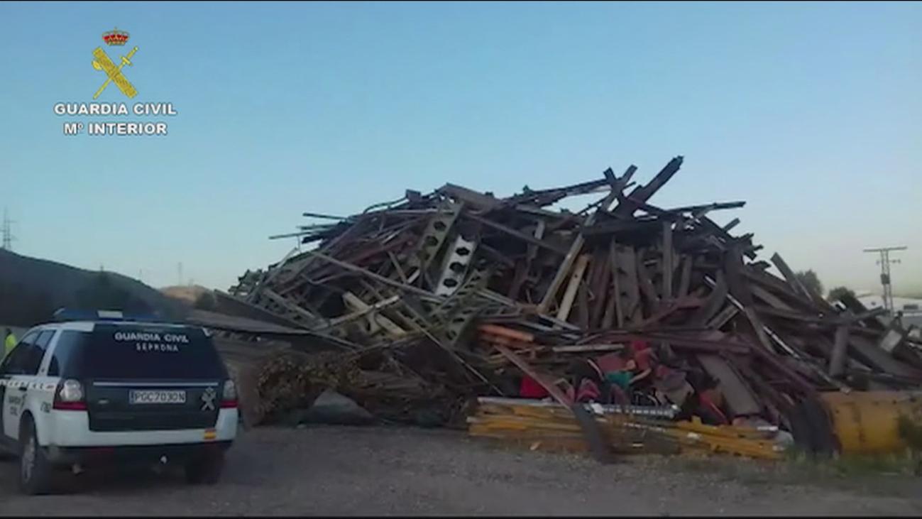 La Guardia Civil recupera más de 35 toneladas de raíles robados